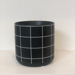 Matte Windowpane Vase