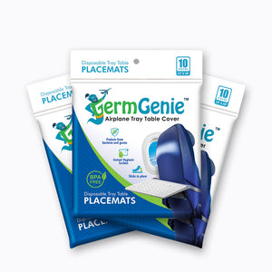Germ Genie | Essential Travel Products | Airplane Tray Table Placemats