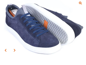 Cameron Sneaker - Water Repellent Suede in Midnight