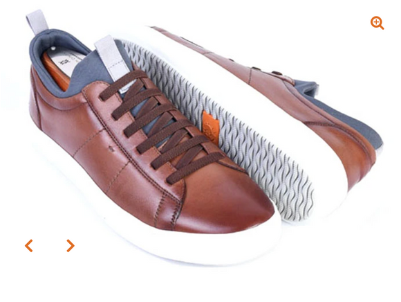 Cameron Sneaker - Saddle Leather in Whiskey