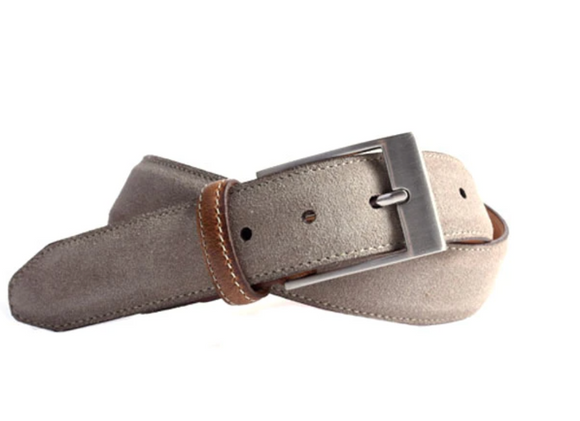 Royal Water Repellent Suede Belt in Stone