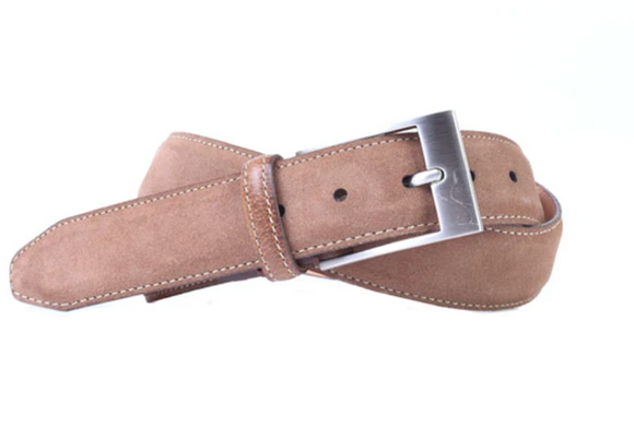 Royal Water Repellent Suede Belt in Tobacco