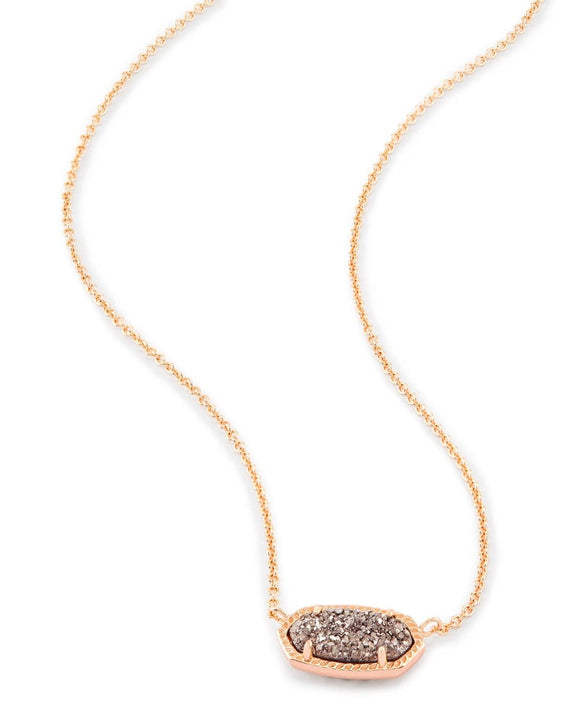 Elisa Rose Gold Pendant with Rose Gold Drusy