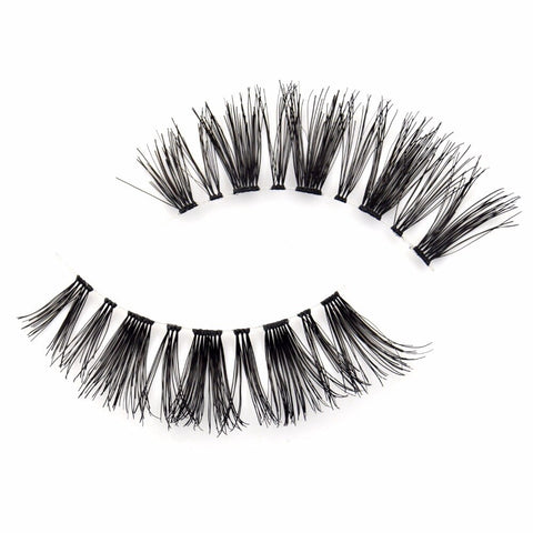 Soft 100% Human Hair False Eyelashes - Genius Eyelashes