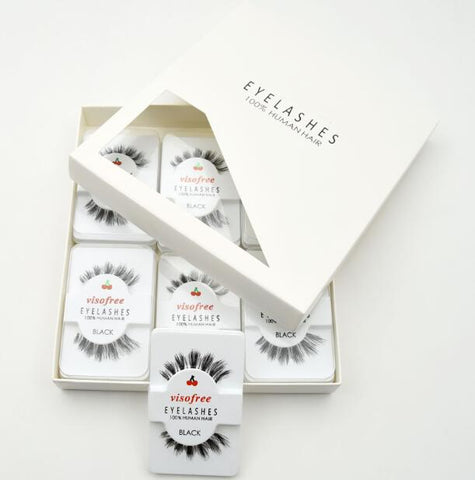 12 pairs/pack Natural Long Eyelash - Genius Eyelashes