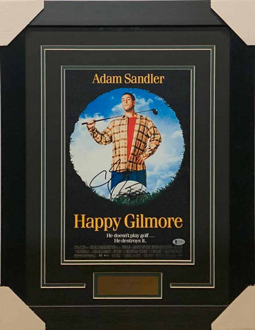 Adam Sandler Signed 11x17 Happy Gilmore Poster - Professionally Framed