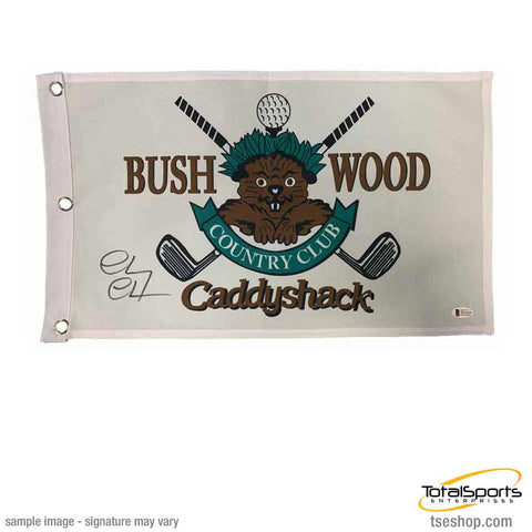 Chevy Chase Signed Bushwood Pin Flag