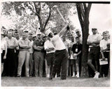Jack Nicklaus Swinging in Front of Crowd Unsigned Old Time Photo