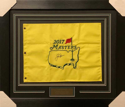 Jack Nicklaus Signed 2017 Masters Flag - Professionally Framed