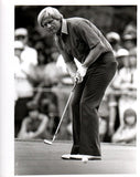 Jack Nicklaus Putting in Solid Pants, Facing Forward Unsigned Old Time Photo