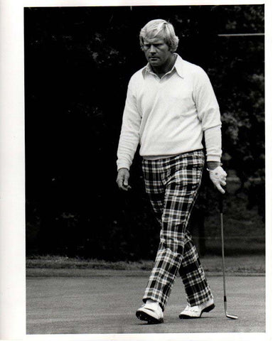Jack Nicklaus Walking in Checkered Pants Unsigned Old Time Photo