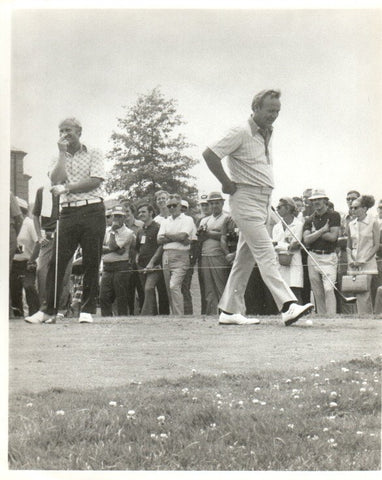 Arnold Palmer and Jack Nicklaus On the Tee Unsigned Old Time Photo