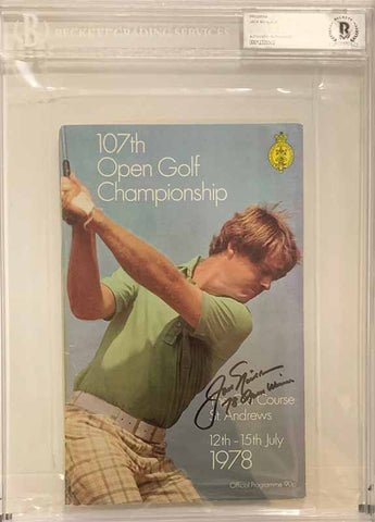 "Jack Nicklaus Signed Authentic 1978 Official Open Program with ""78 Open Winner"" (Beckett Slabbed)"