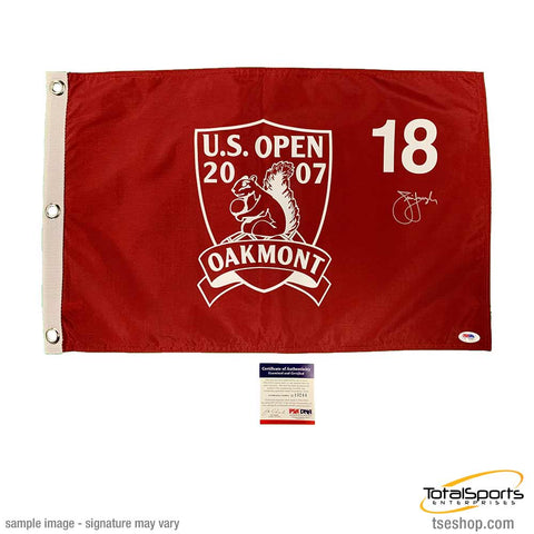 Jim Furyk Signed 2007 Oakmont Pin Flag