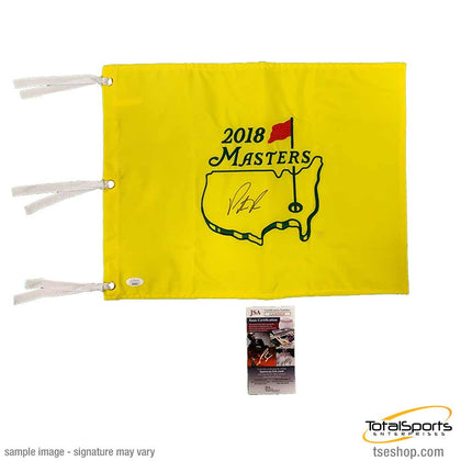 Patrick Reed Signed 2018 Masters Pin Flag