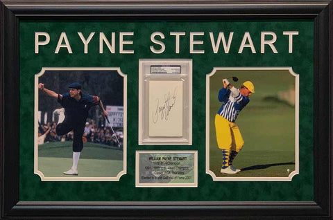 Payne Stewart Cut Out Signature with 2 8x10 Photos - Professionally Framed