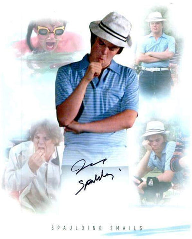 "John Barmon Signed Caddyshack Collage 8x10 Photo with ""Spalding"""