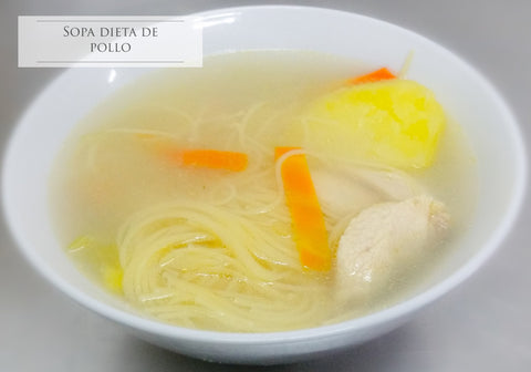 Sopa dieta de pollo - Menu Office