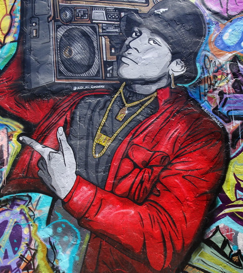 ll Cool J Graffiti on Melrose Avenue by BP Miller