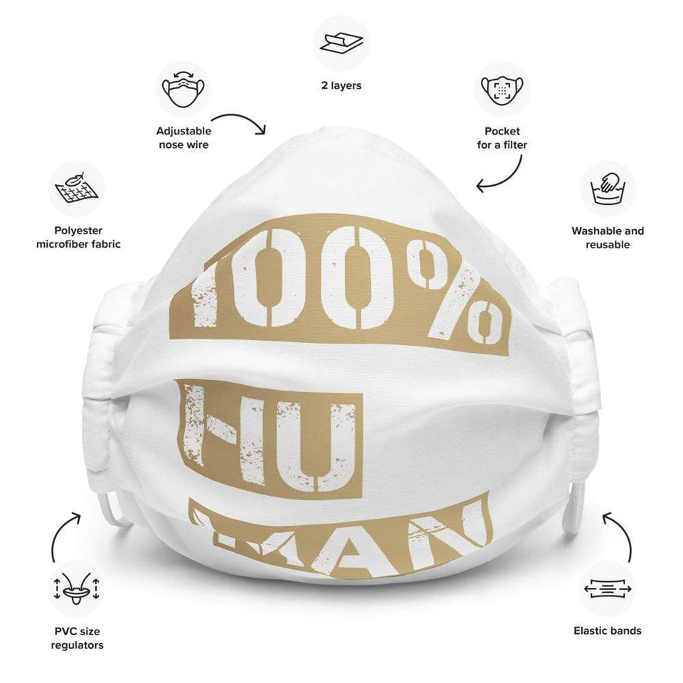 100% Human Face mask White Political-Activist-Socialist-Fashion -Art-And-Design