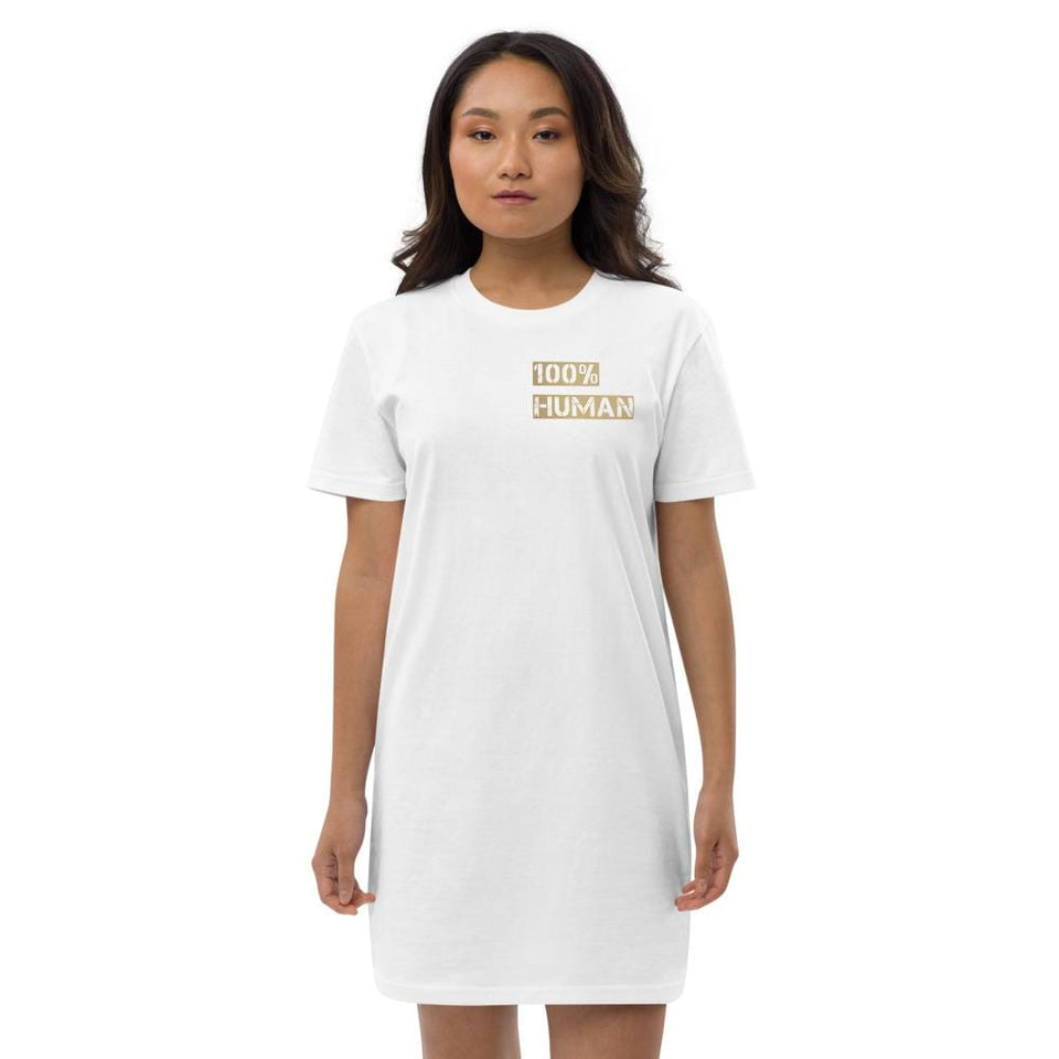 100% Human Organic t-shirt dress Political-Activist-Socialist-Fashion -Art-And-Design