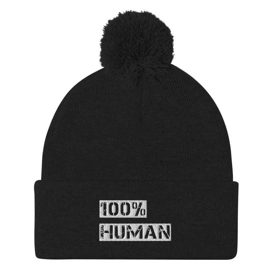 100% Human Beanie Political-Activist-Socialist-Fashion -Art-And-Design