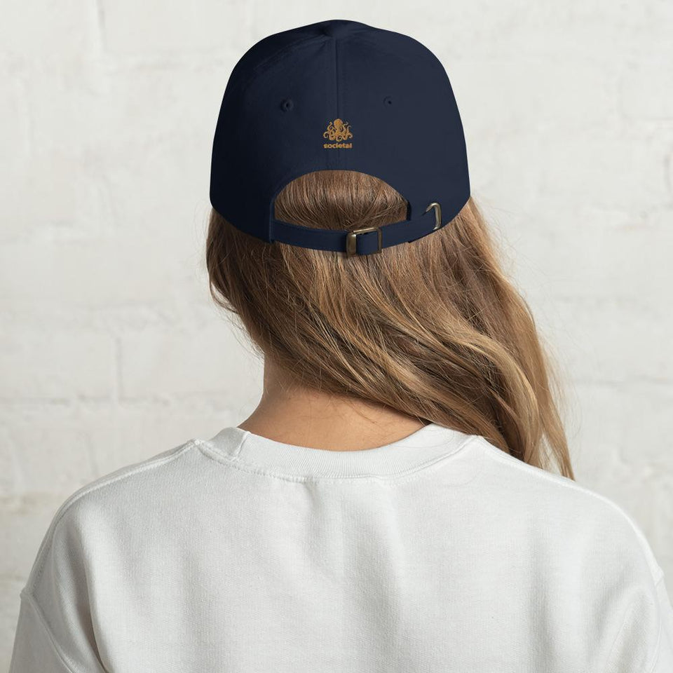 100% Human Hat Navy Political-Activist-Socialist-Fashion -Art-And-Design