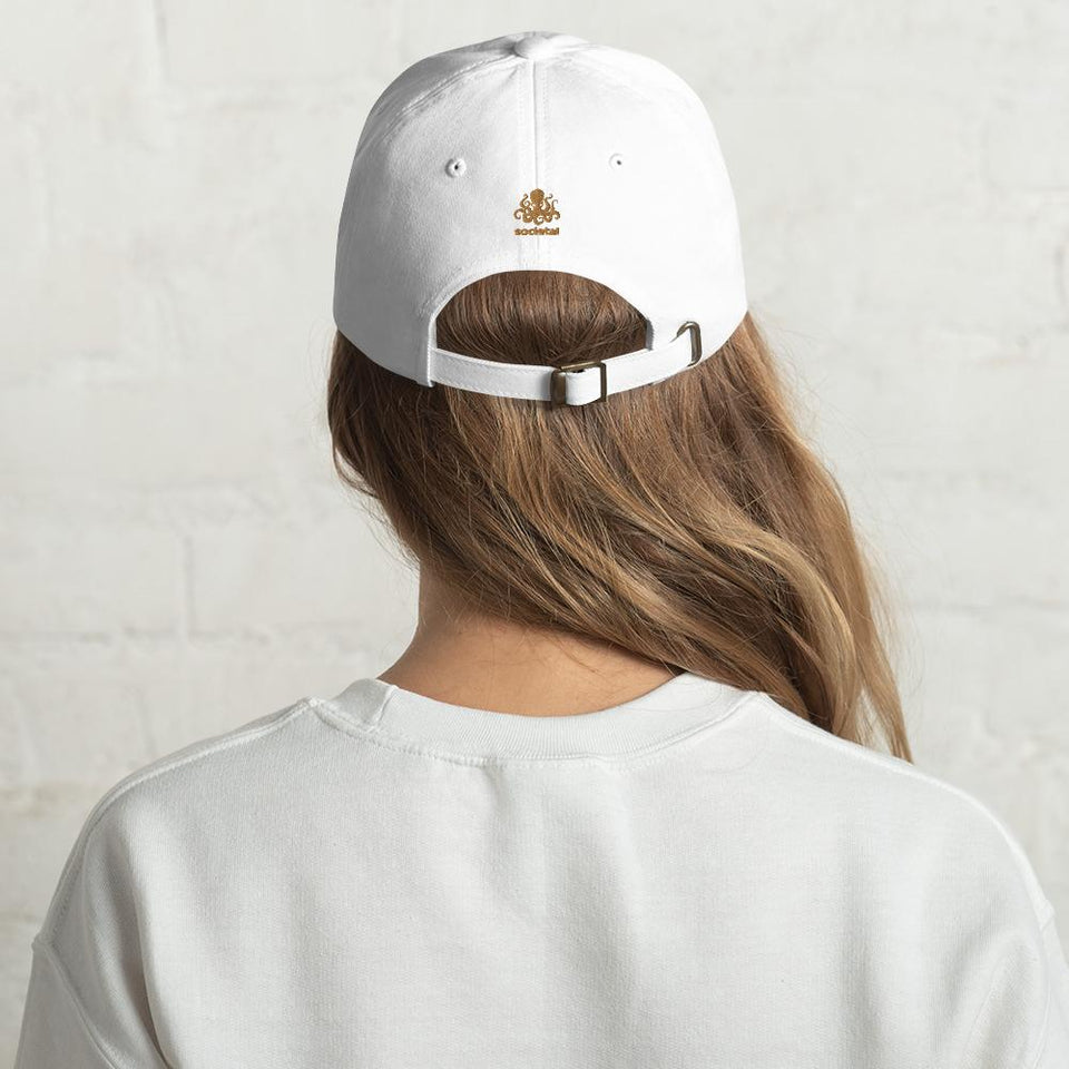 100% Human Hat White Political-Activist-Socialist-Fashion -Art-And-Design