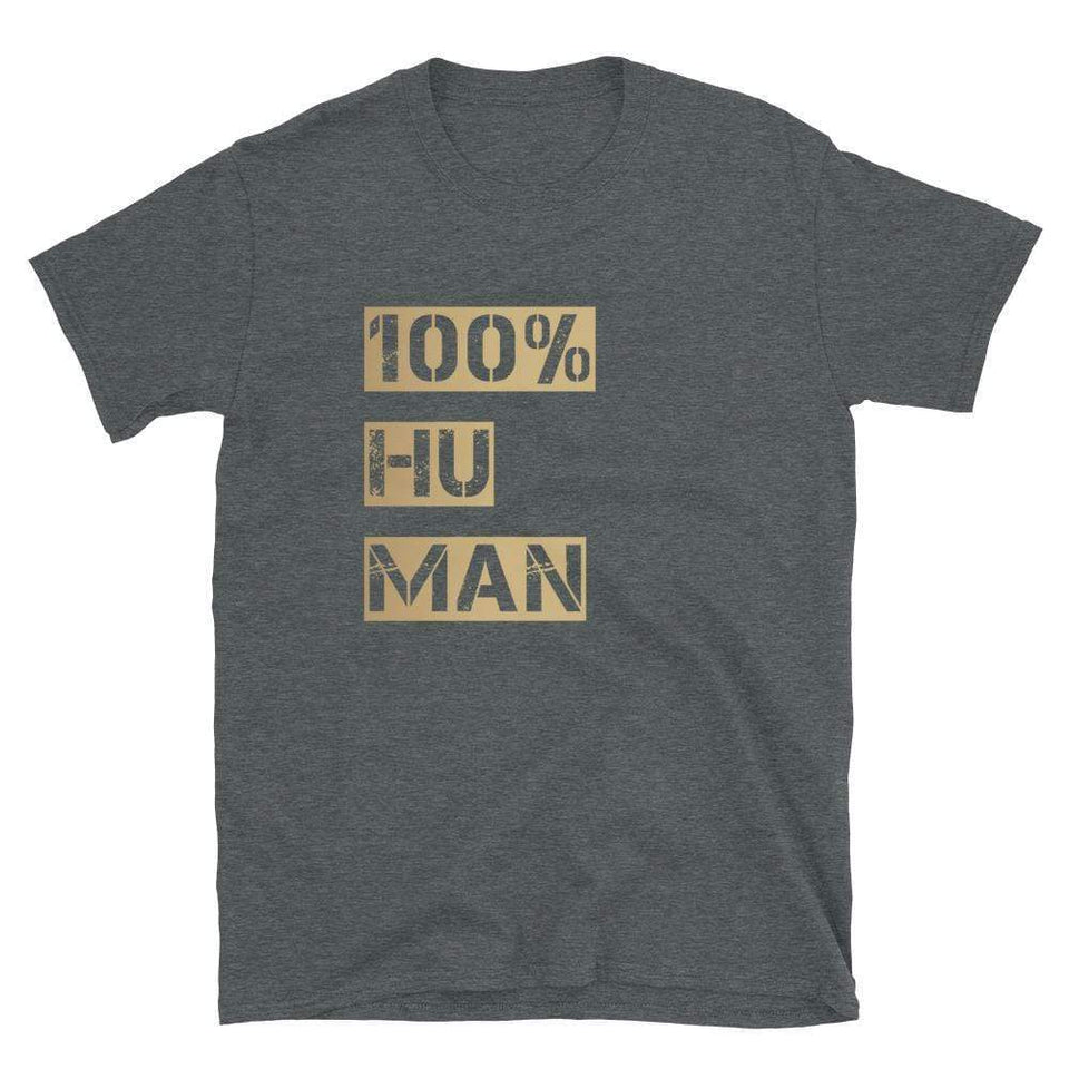 100% Human Tee Dark Heather / S Political-Activist-Socialist-Fashion -Art-And-Design