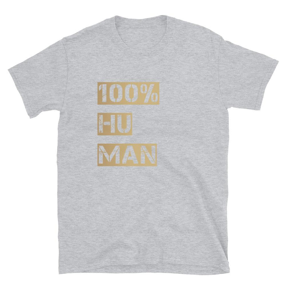 100% Human Tee Sport Grey / S Political-Activist-Socialist-Fashion -Art-And-Design