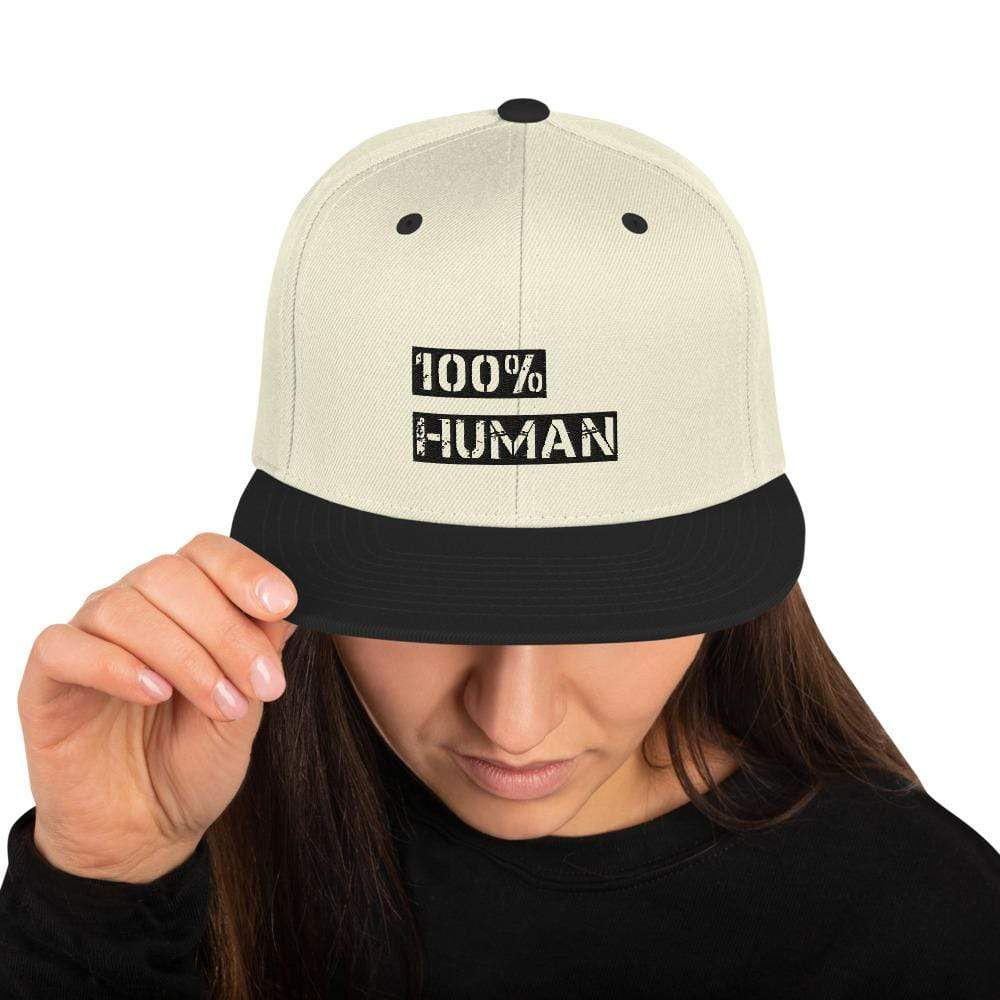 100% Percent Human Societal Snapback Hat Natural/ Black Political Fashion