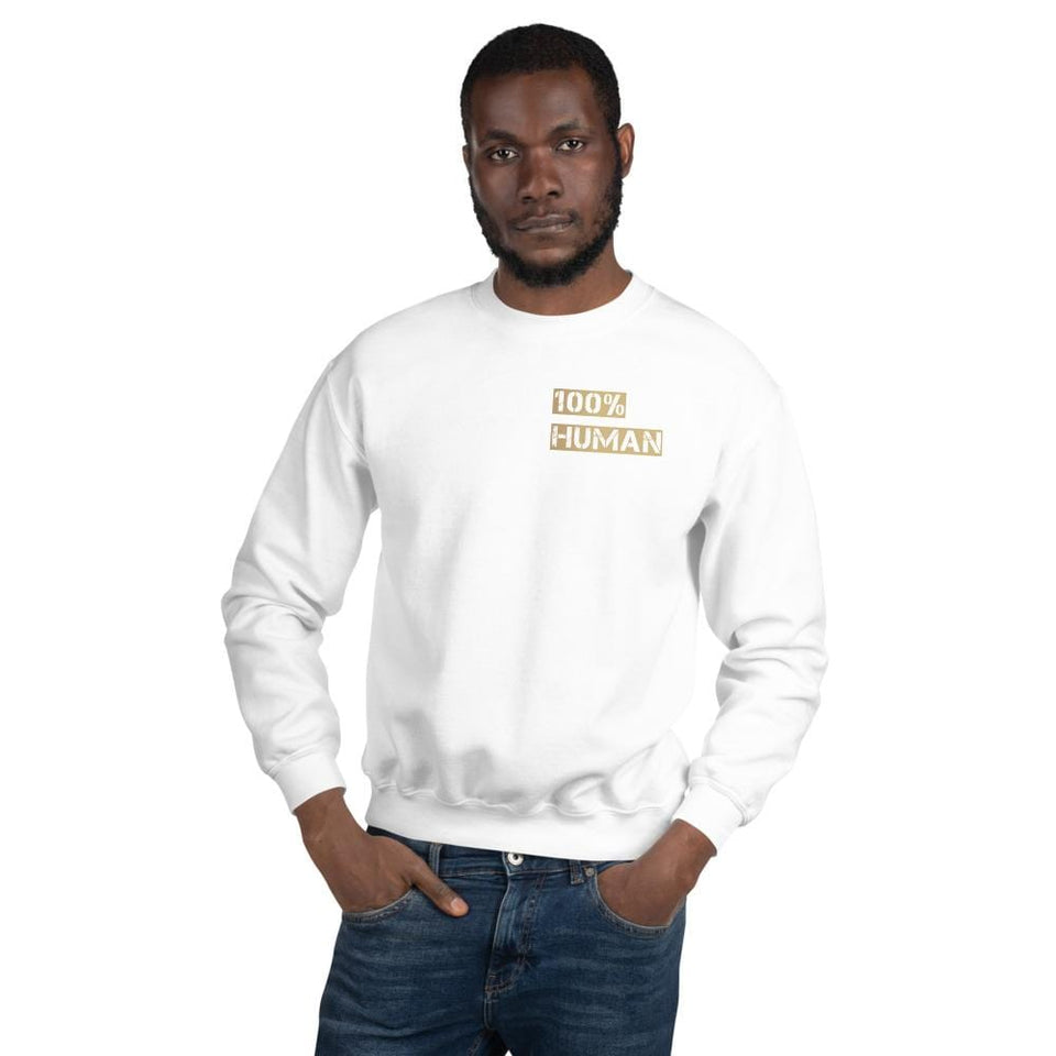 100% Human Sweatshirt Political-Activist-Socialist-Fashion -Art-And-Design