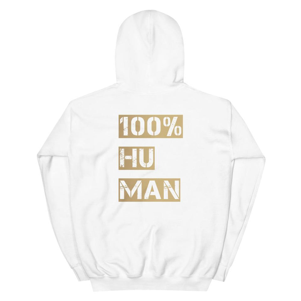 100% Human Hoodie Political-Activist-Socialist-Fashion -Art-And-Design