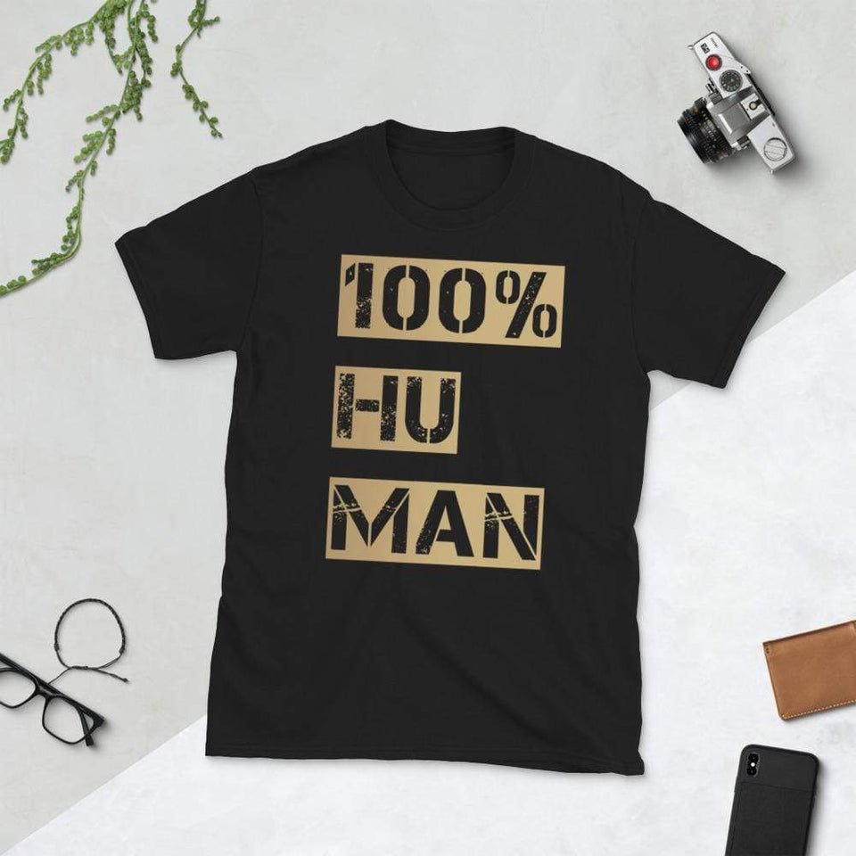 100% Human T-Shirt Bold Black / S Political-Activist-Socialist-Fashion -Art-And-Design