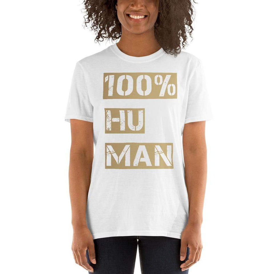 100% Human T-Shirt Bold Political-Activist-Socialist-Fashion -Art-And-Design