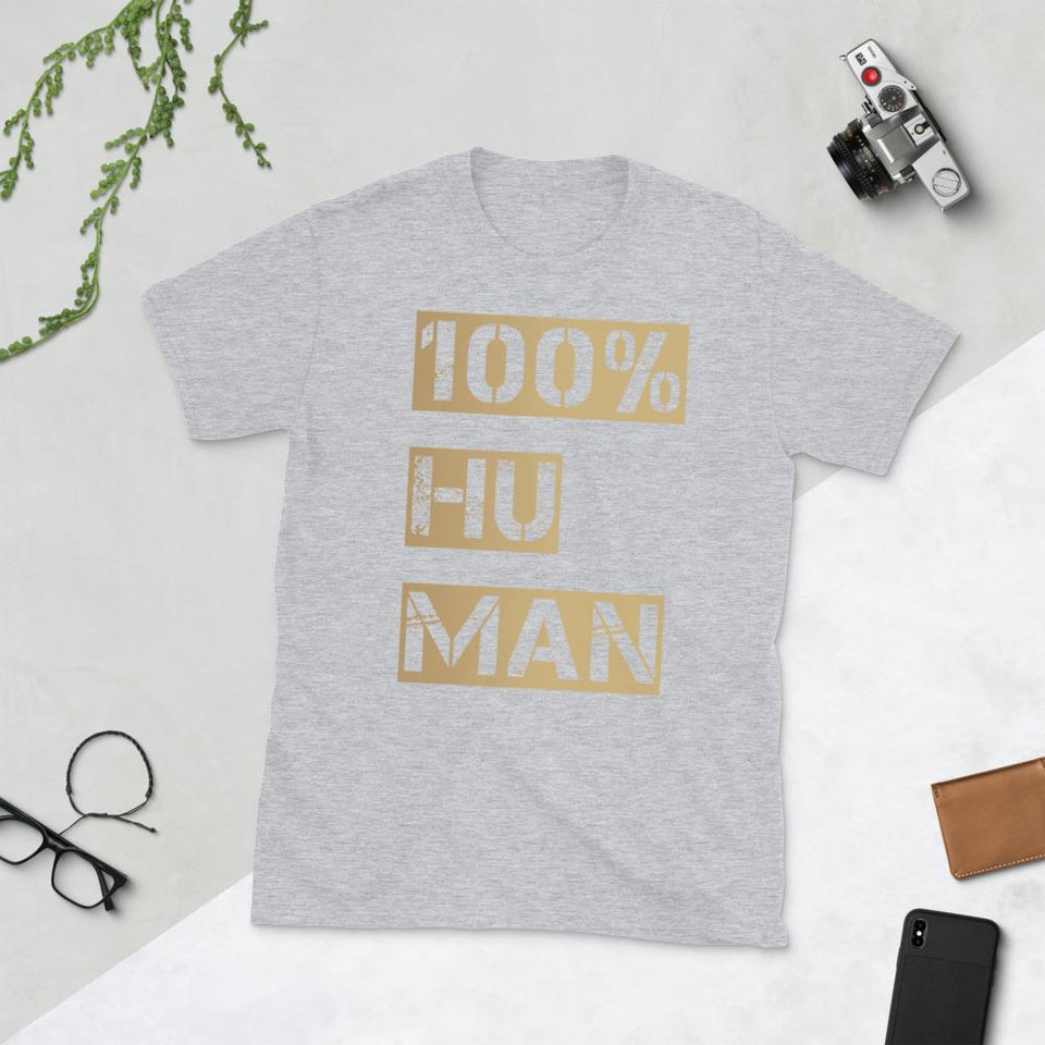 100% Human T-Shirt Bold Sport Grey / S Political-Activist-Socialist-Fashion -Art-And-Design