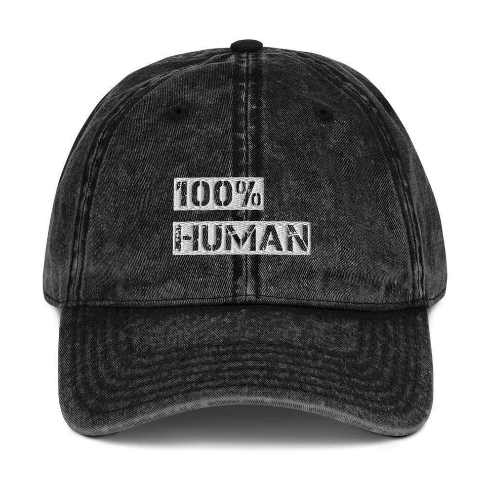 100% Human Vintage Twill Cap Political-Activist-Socialist-Fashion -Art-And-Design