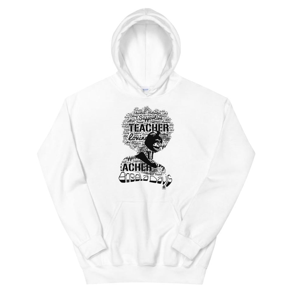 Angela Y. Davis Hoodie White / S Political-Activist-Socialist-Fashion -Art-And-Design