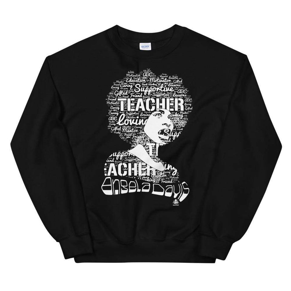 Angela Y. Davis Sweatshirt Black / S Political-Activist-Socialist-Fashion -Art-And-Design