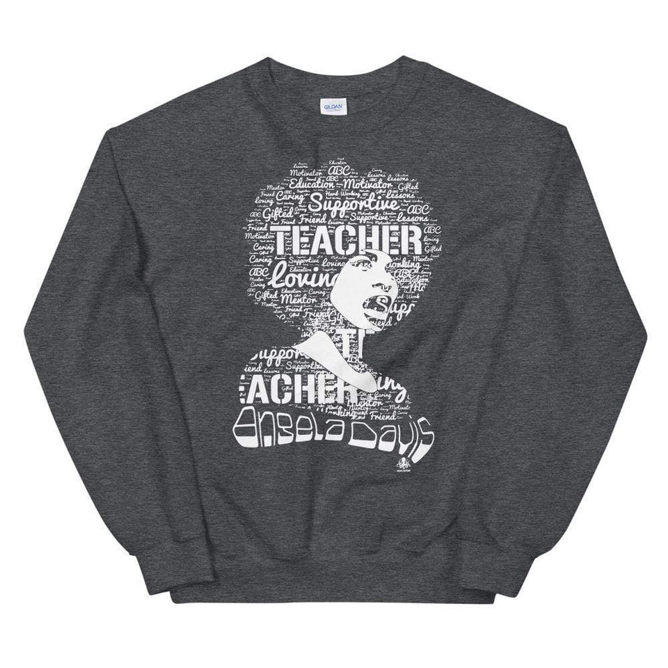 Angela Y. Davis Sweatshirt Dark Heather / S Political-Activist-Socialist-Fashion -Art-And-Design