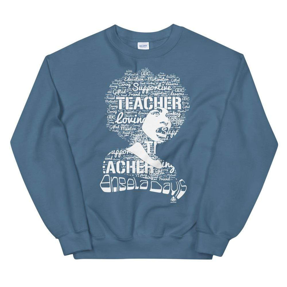 Angela Y. Davis Sweatshirt Indigo Blue / S Political-Activist-Socialist-Fashion -Art-And-Design