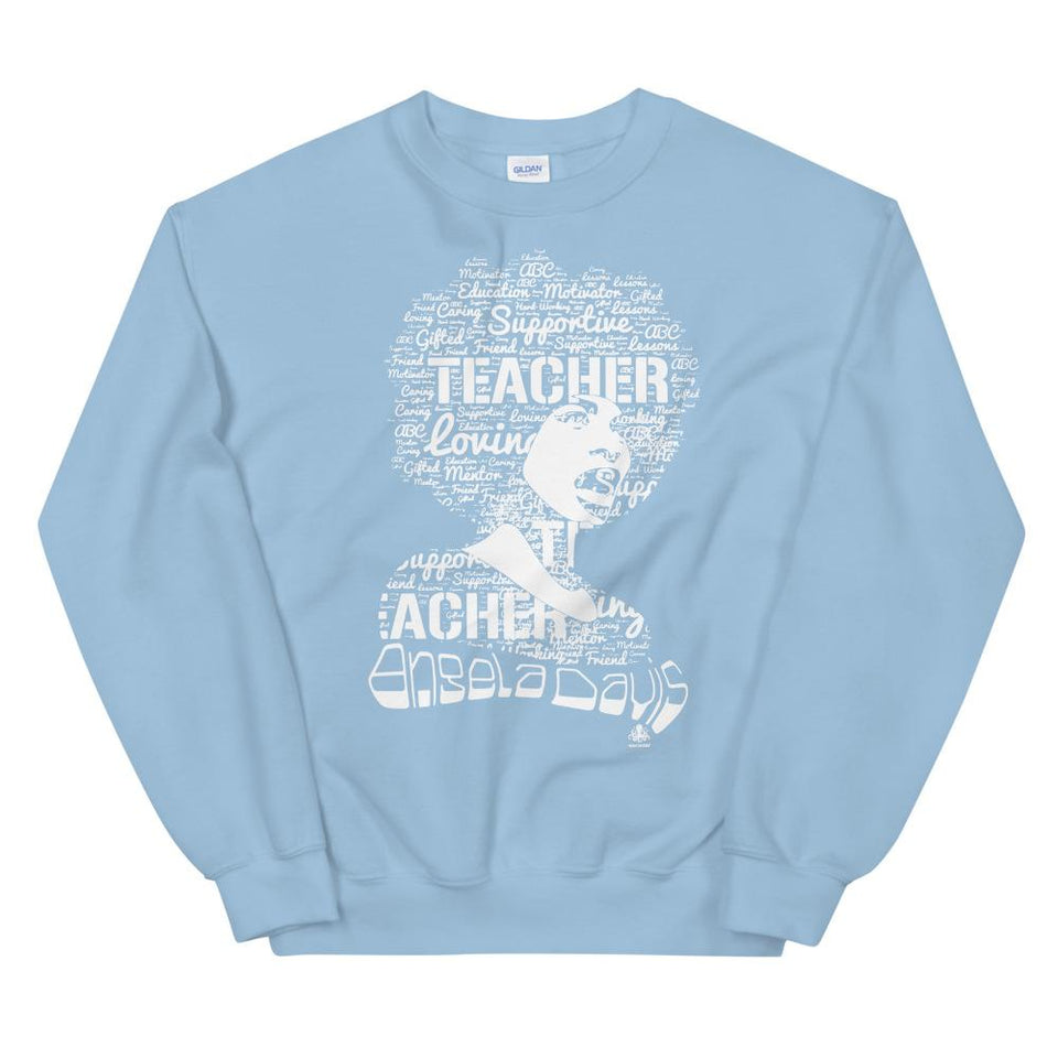 Angela Y. Davis Sweatshirt Light Blue / S Political-Activist-Socialist-Fashion -Art-And-Design