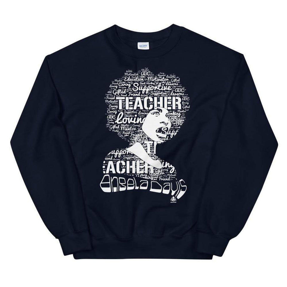 Angela Y. Davis Sweatshirt Navy / S Political-Activist-Socialist-Fashion -Art-And-Design