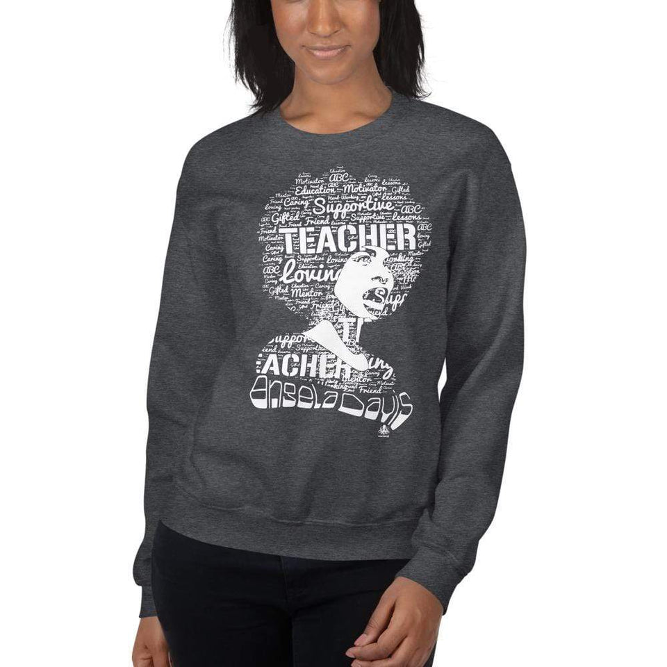 Angela Y. Davis Sweatshirt Political-Activist-Socialist-Fashion -Art-And-Design