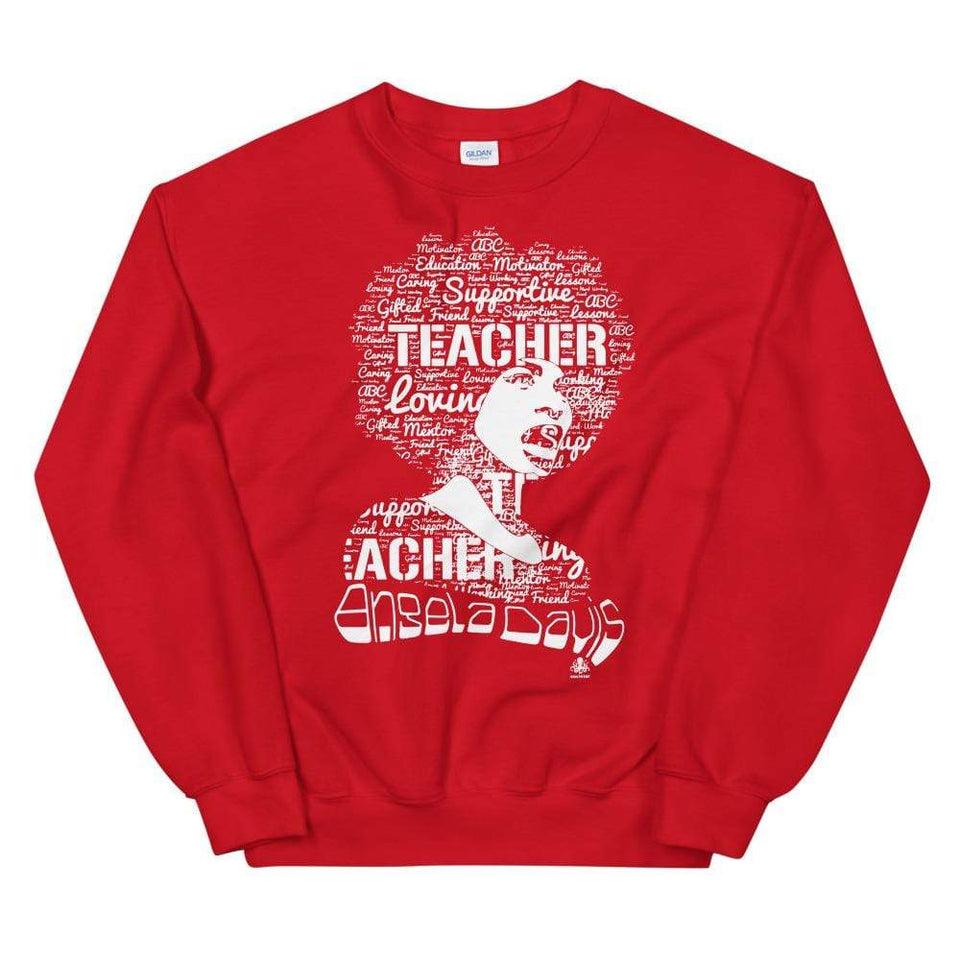 Angela Y. Davis Sweatshirt Red / S Political-Activist-Socialist-Fashion -Art-And-Design