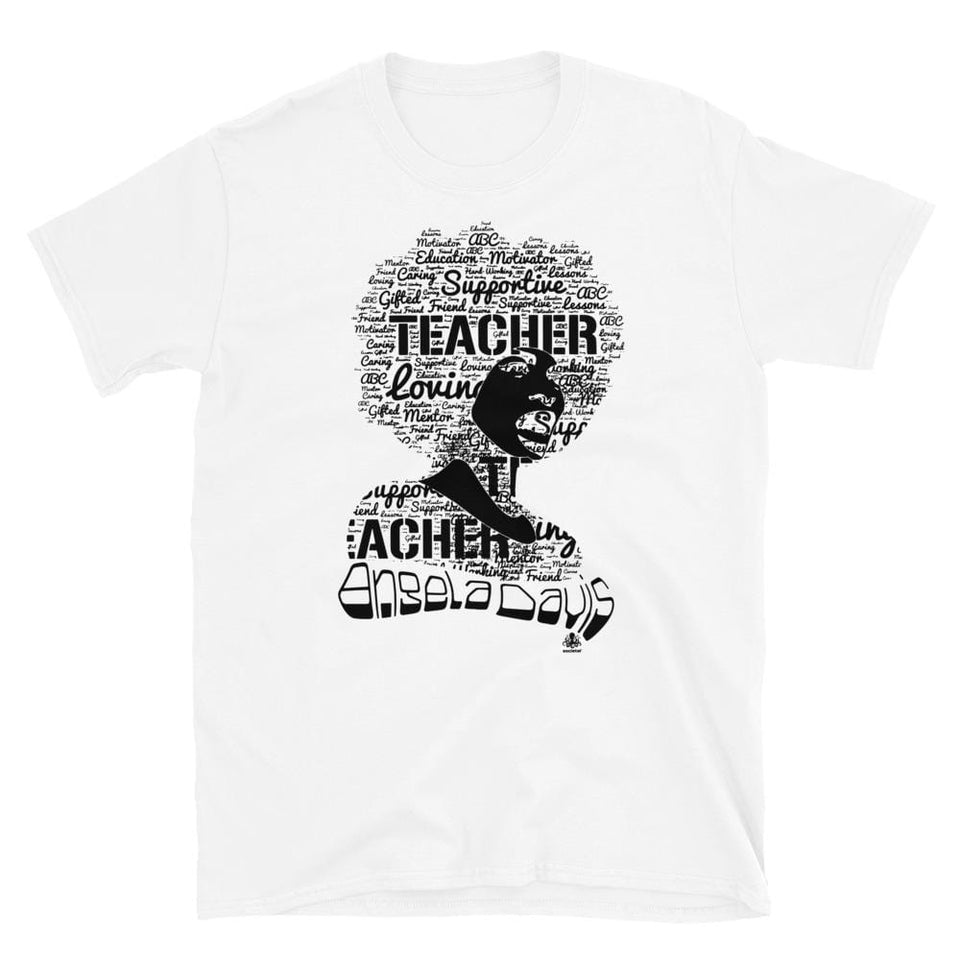Angela Y. Davis T-Shirt White / S Political-Activist-Socialist-Fashion -Art-And-Design