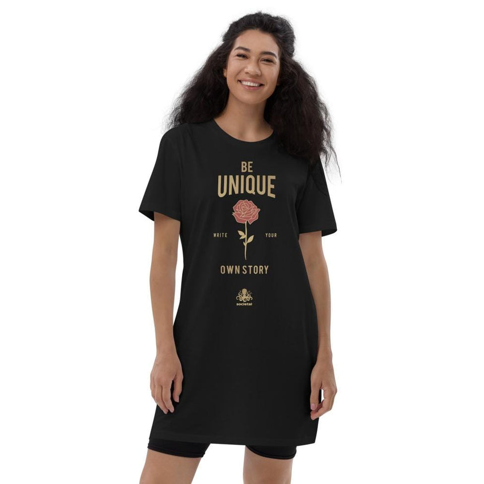 Be Unique Organic t-shirt dress Political-Activist-Socialist-Fashion -Art-And-Design