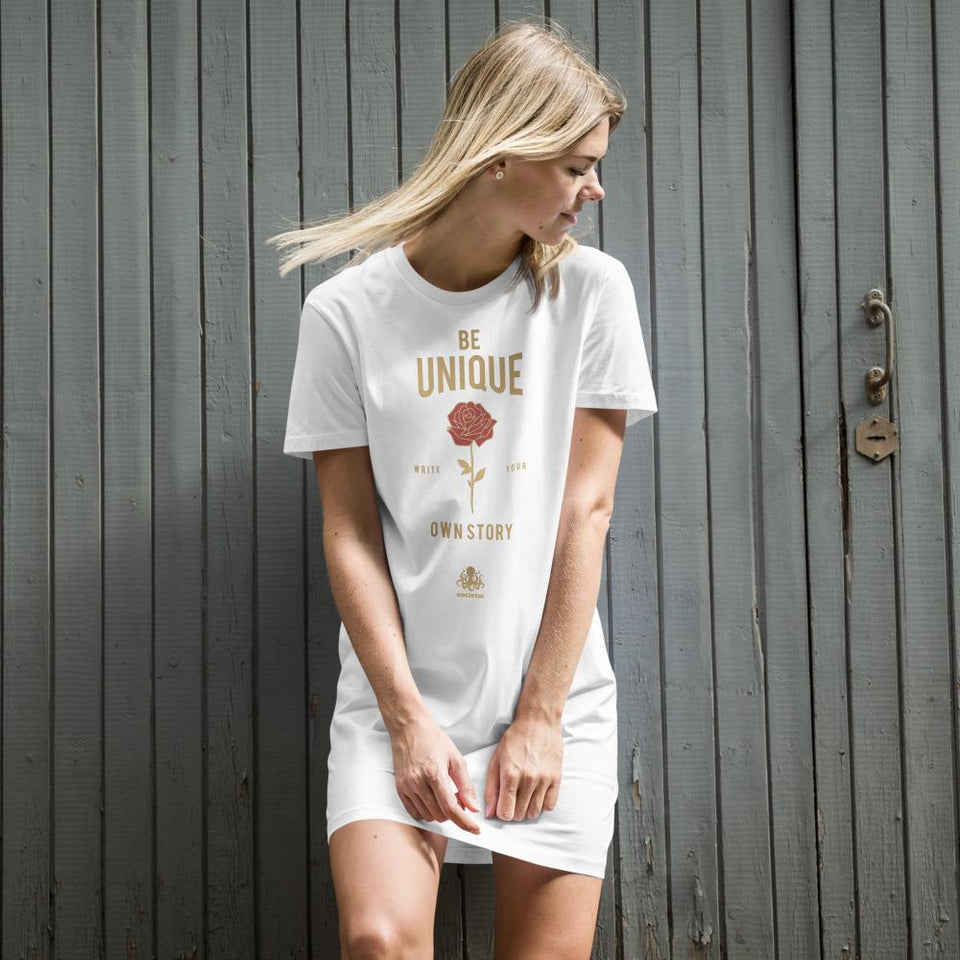 Be Unique Organic t-shirt dress White / XS Political-Activist-Socialist-Fashion -Art-And-Design