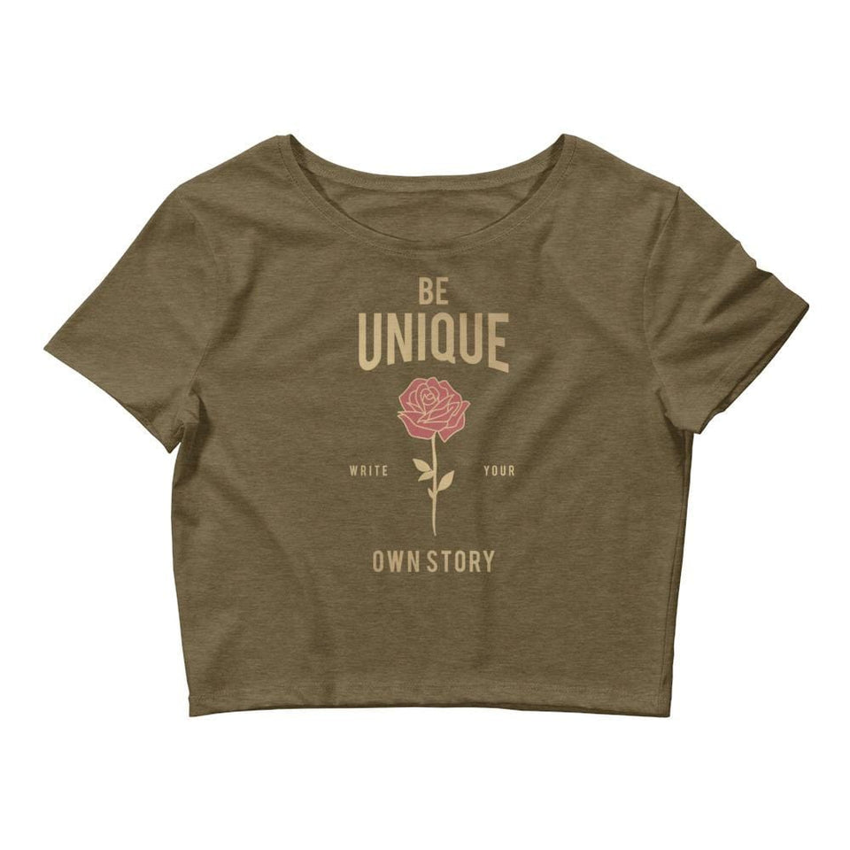 BE Unique Crop Tee Political-Activist-Socialist-Fashion -Art-And-Design