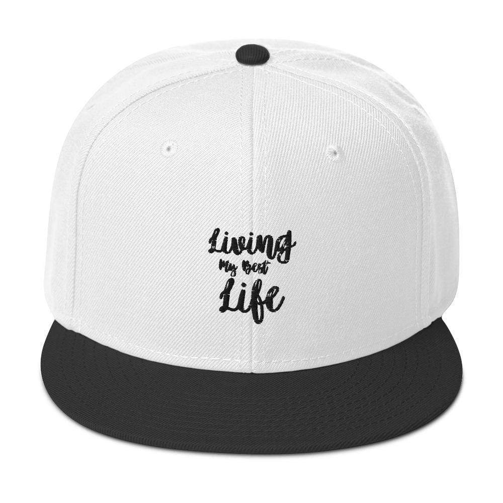 Best Life Societal Snapback Hat Black / White / White Political Fashion